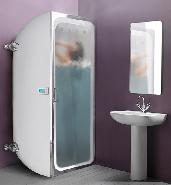 "The Bath Store's vertical bath campaign included advice such as to ""Turn off the flow when it reaches your shoulders (this step is very important)"" and ""not to open the door""."