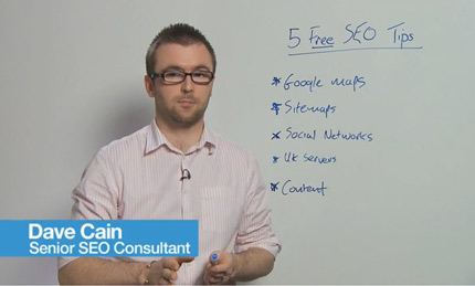 Angel's SEO tips videos (in Moz's whiteboard Friday format) were filmed in the office using a camcorder on a tripod.