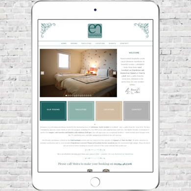 Website design: Edenmore Guesthouse