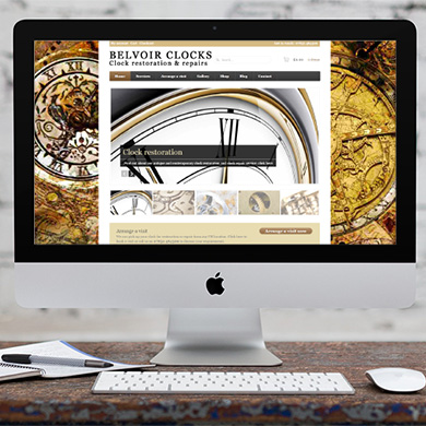 Website design: Belvoir Clocks