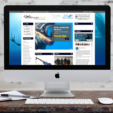 Website design: Spearfishing Ltd