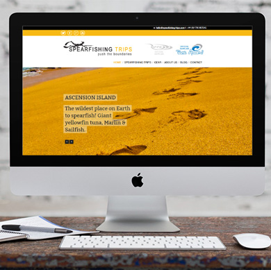 Website design: Spearfishing Trips