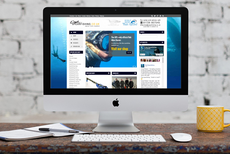 Spearfishing website design