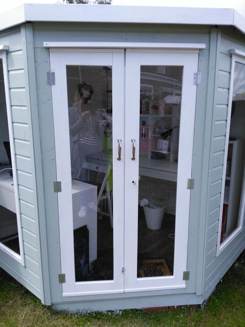 Summer house front doors